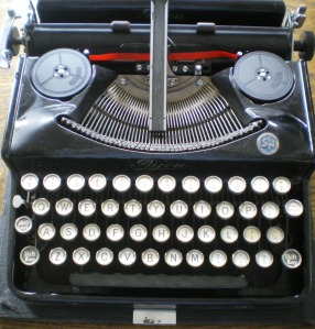 My typewriter did not look like this beauty!